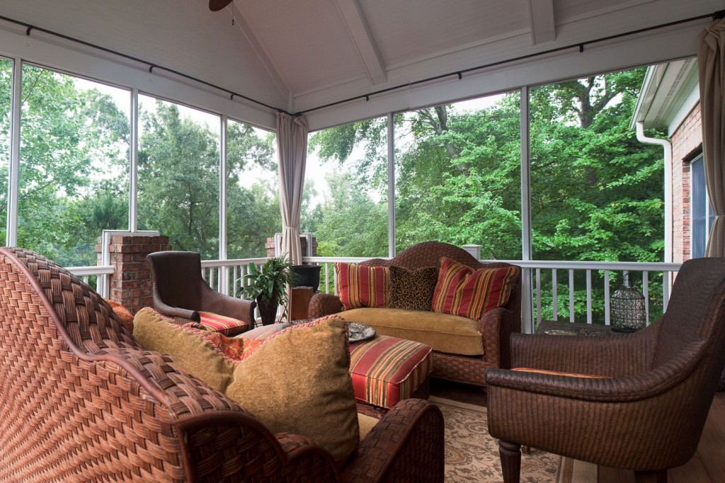 Second Story Screened Porch and Deck