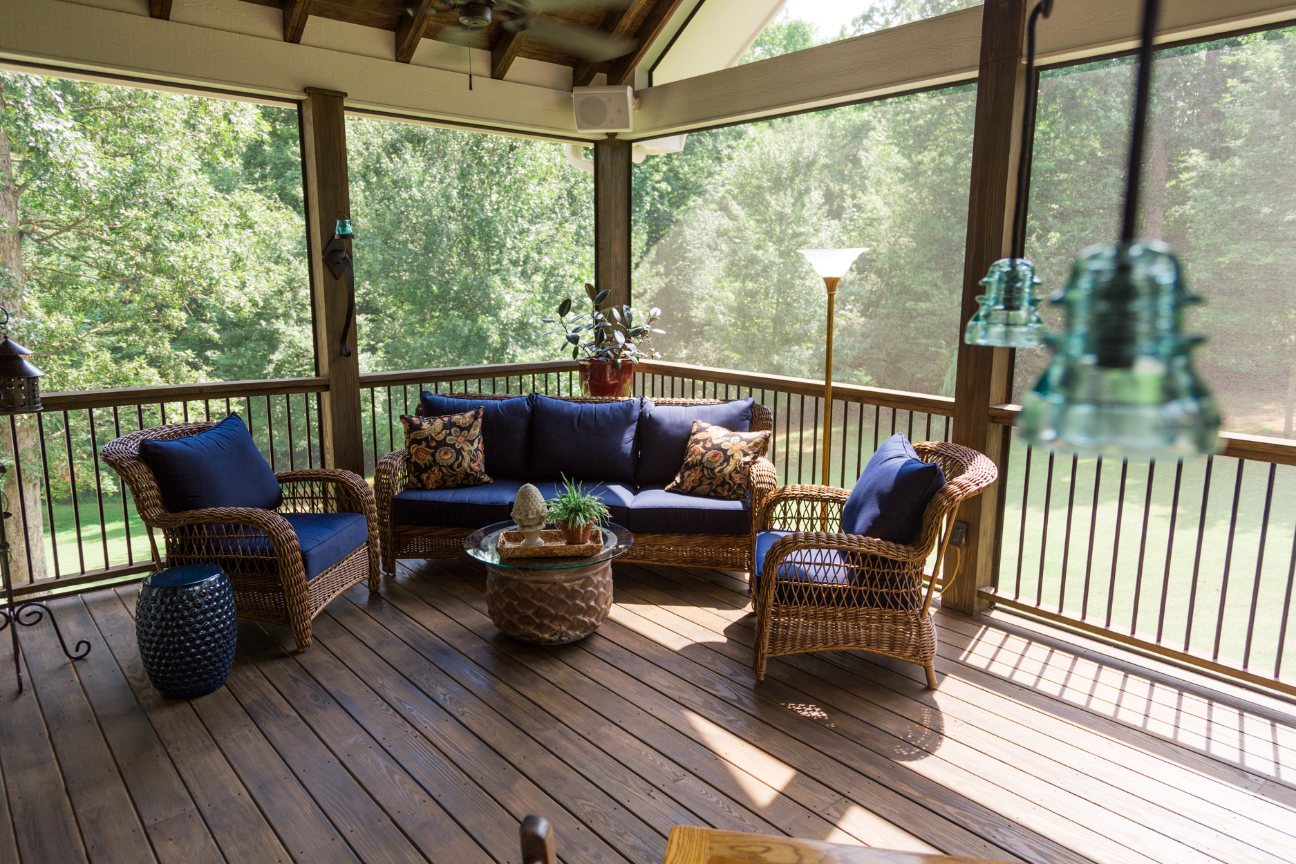 screened in deck. Screened Porch And Deck Interior View In E