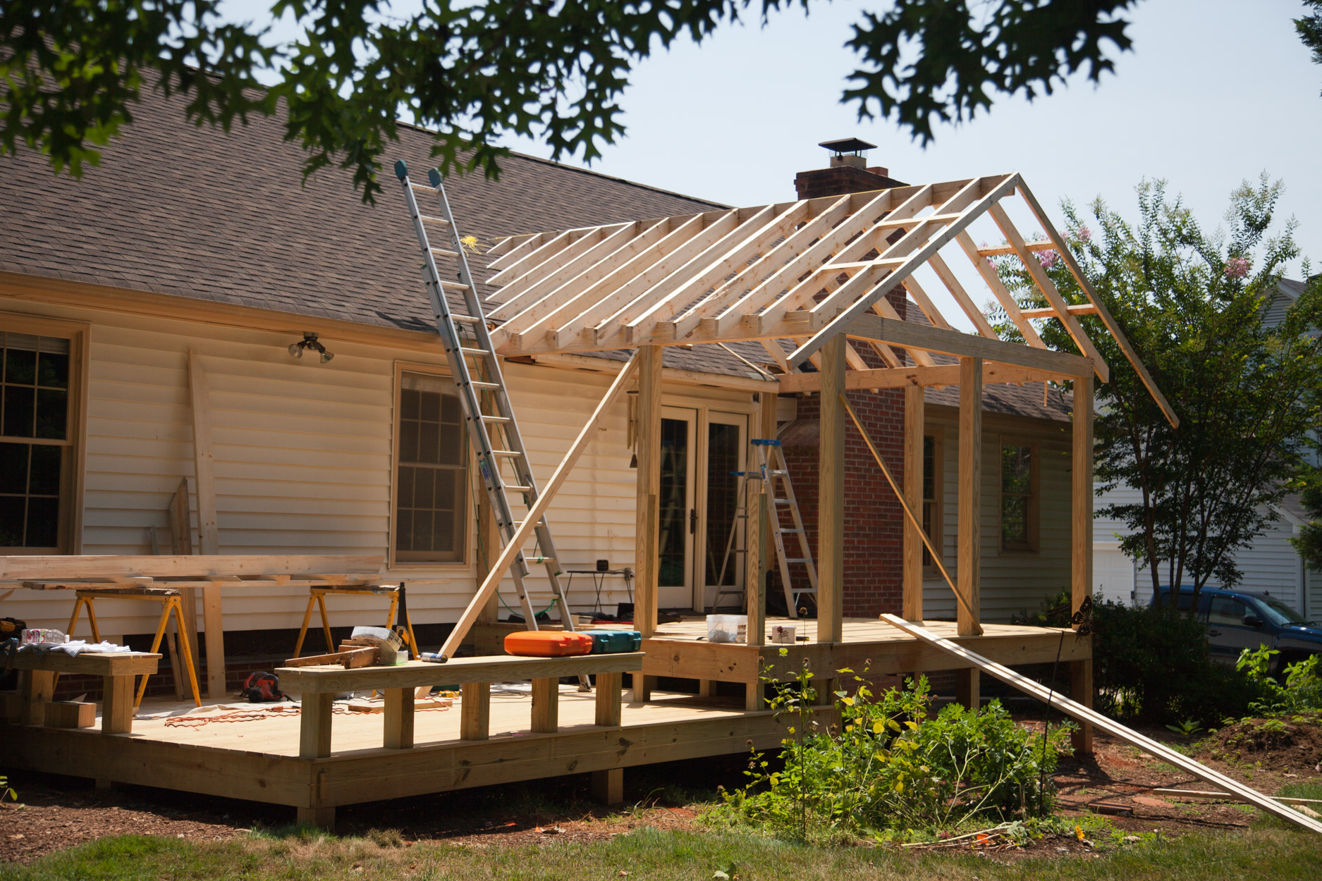 Screen Porch Additions : Screened porch addition solid construction