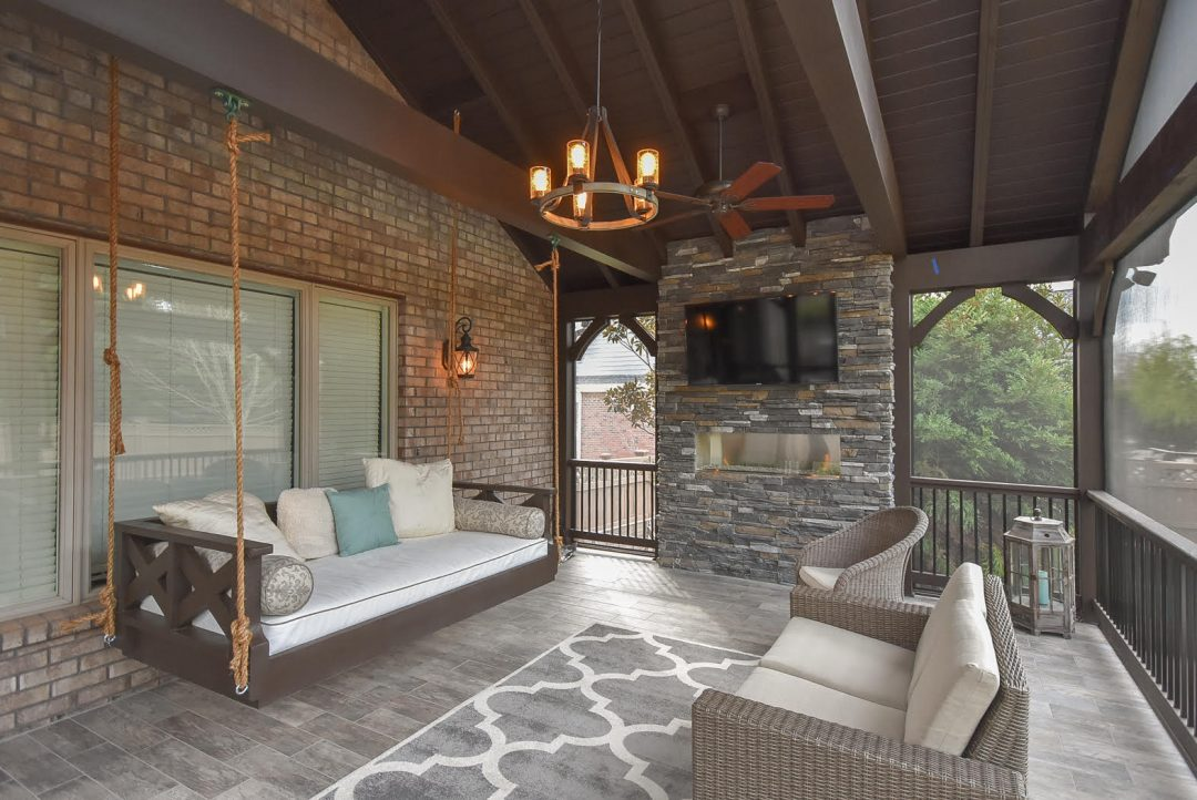 Rustic Style Screened Porch Addition