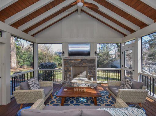 Custom Rustic Screened Porch