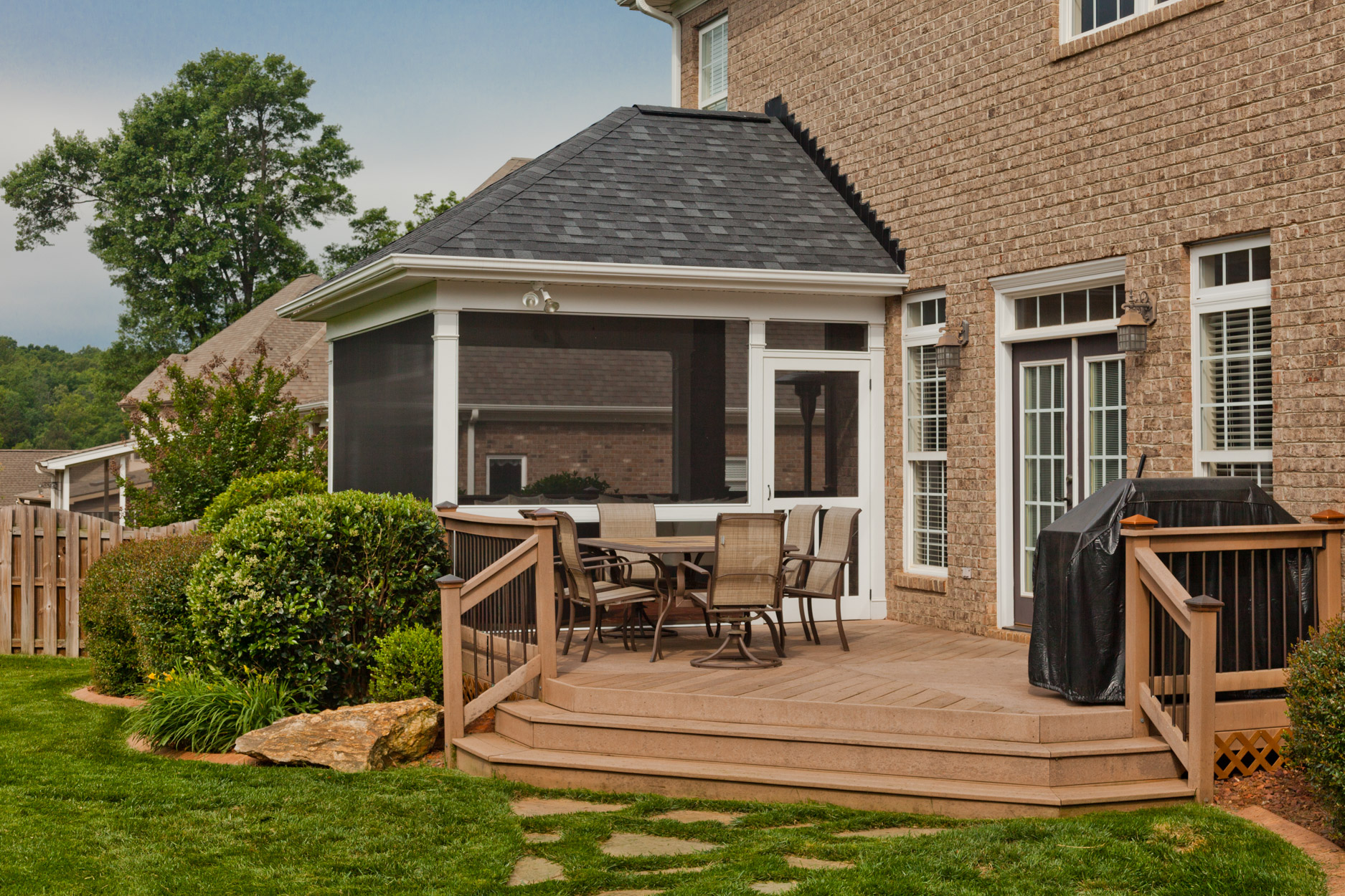 Custom Homes Greenville Sc Screened Porch Addition Solid Construction